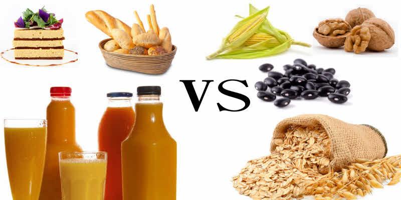 Carboidratos Simples versus Carboidratos Complexos