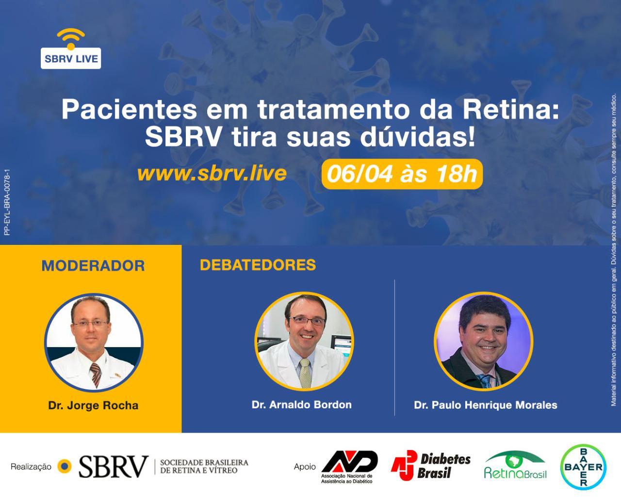 Pacientes em Tratamento da Retina: SBRV Tira suas Dúvidas